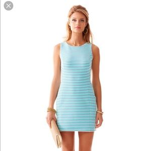 Lilly Pulitzer Turquoise and White Short Dress